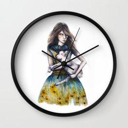 Rodarte for Vanity Fair // Fashion Illustration Wall Clock