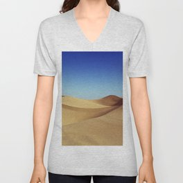 Located in the southeast corner of California, the Imperial Sand Dunes are the largest mass of sand dunes in the state Unisex V-Neck