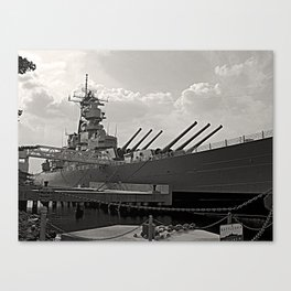 USS Wisconsin (BB-64) Canvas Print