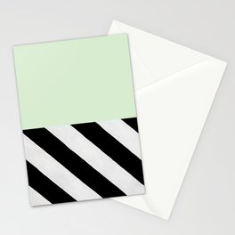PARALLEL_LINES_GREEN_MINT Stationery Cards