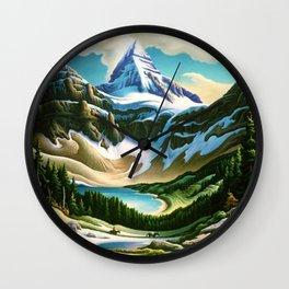The Trail Riders Mountain Landscape by Thomas Hart Benton Wall Clock