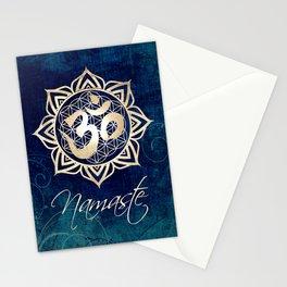 Namaste Lotus Flower of Life Mandala Stationery Cards