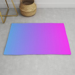 Blue And Pink Gradient Pattern Rug