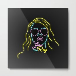 Neon Lana Metal Print