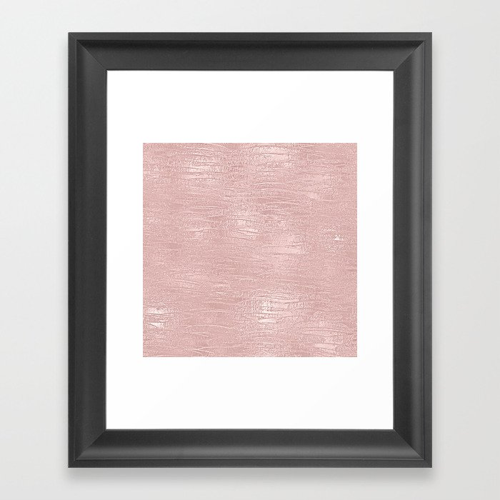 Metallic Rose Gold Blush Gerahmter Kunstdruck