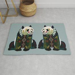 panda silver Rug