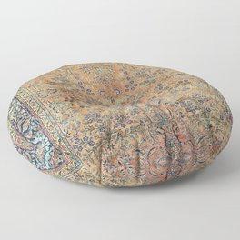 Kashan Floral Persian Carpet Print Floor Pillow
