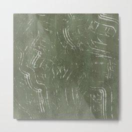 sage mudcloth pattern Metal Print