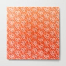 Orange Swirls - repeating digital pattern Metal Print