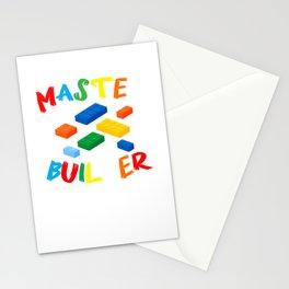 Master Builder Building Blocks Brick Builders Toys gift Stationery Cards