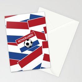 Netherlands Flag Football Stationery Cards