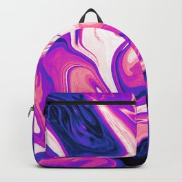 Genderfluid Pride Abstract Marbled Colors Backpack