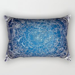 Vintage Celestial Constellations 17th Cenurty Star Map - Star Chart of the Constellations Rectangular Pillow