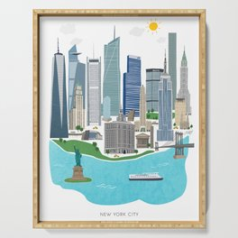 New York City Illustration Serving Tray
