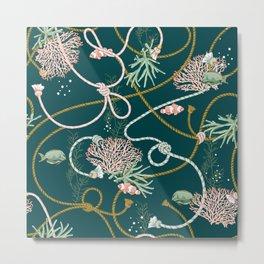 deep green nautical Metal Print