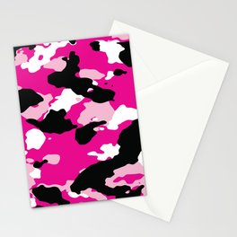 Pink Camo Stationery Cards