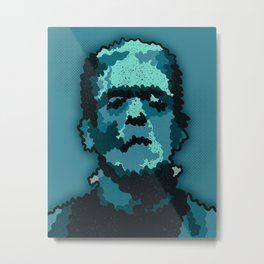 Frankenstein- Digital Illustration Art Print Metal Print