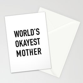 World's Okayest Mother Stationery Cards