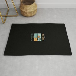 Beach QuoteDesign: The Beach is my Happy Place Rug