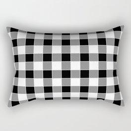 Buffalo Check - black / white Rectangular Pillow