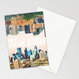 Skylines of Twin Cities | Minneapolis and Saint Paul Minnesota Stationery Cards