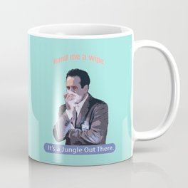 Hand me a Wipe_It's a Jungle Out There_Andrian Monk. Coffee Mug