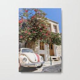 Vintage Car in Chalkio I Naxos, Greece I Travel Photography Metal Print
