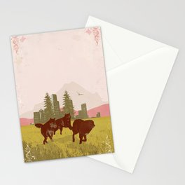 WILD WOLVES II Stationery Cards