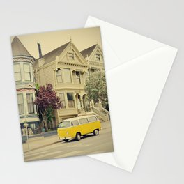 San Francisco Heights and Van Stationery Cards