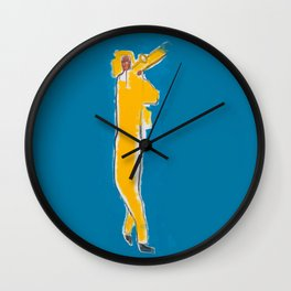 Untitled Homage to Basquiat Wall Clock