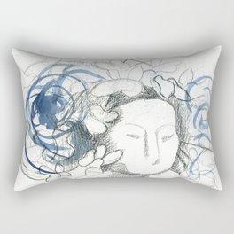 Mariposas sculpture sketch - Butterflies  Rectangular Pillow