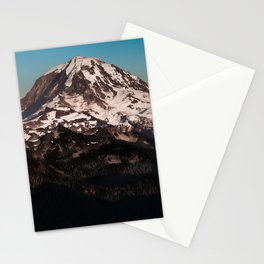 Mt Rainier Dusk Stationery Cards