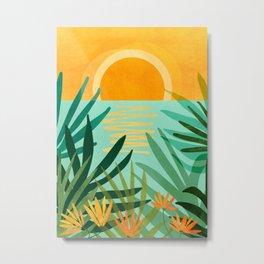 Peaceful Tropics / Sunset Landscape Metal Print
