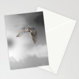 flying owl (tyto alba) Stationery Cards