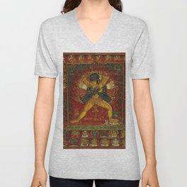 Buddhist Deity Kalachakra Unisex V-Neck