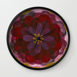100 leaves dark red rose with gold background T-Shirt Edit Wall Clock