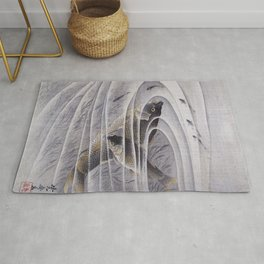 Kawanabe Kyosai - Carps - Digital Remastered Edition Rug
