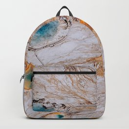grand prismatic spring surface scenic wyoming united states Backpack