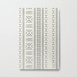 onyx on bone mud cloth Metal Print