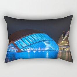 Photo Spain Valencia, Ciudad de las Artes y las Ciencias night time Cities Night Rectangular Pillow