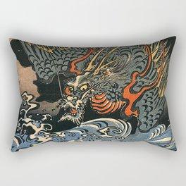 Sea-Dragon, Utagawa Kuniyoshi Rectangular Pillow