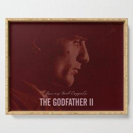 The Godfather Part II, Robert De Niro, Al Pacino, American movie poster Serving Tray