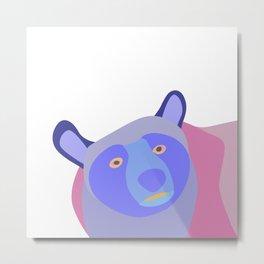 Bear in mixed colors Metal Print