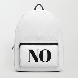 No Backpack