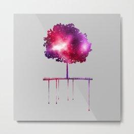 Vaporwave Tree Metal Print