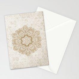 Mandala Temptation in Cream Stationery Cards