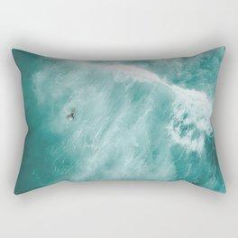 Surfer Surfing Bondi Beach Rectangular Pillow