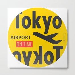 Airport tag Tokyo Metal Print