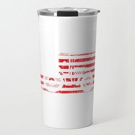 "A Farm Shirt For Farmers ""American Flag Tractor"" The Lifestyle Of Every Great Farmer T-shirt Design Travel Mug"