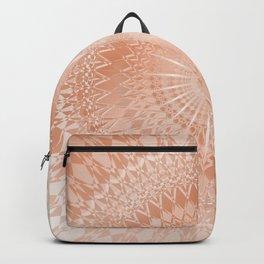 Rose Gold Geometric Mandala Backpack